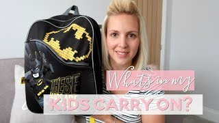 What I Pack in My Kids Carry On | Travelling with Kids