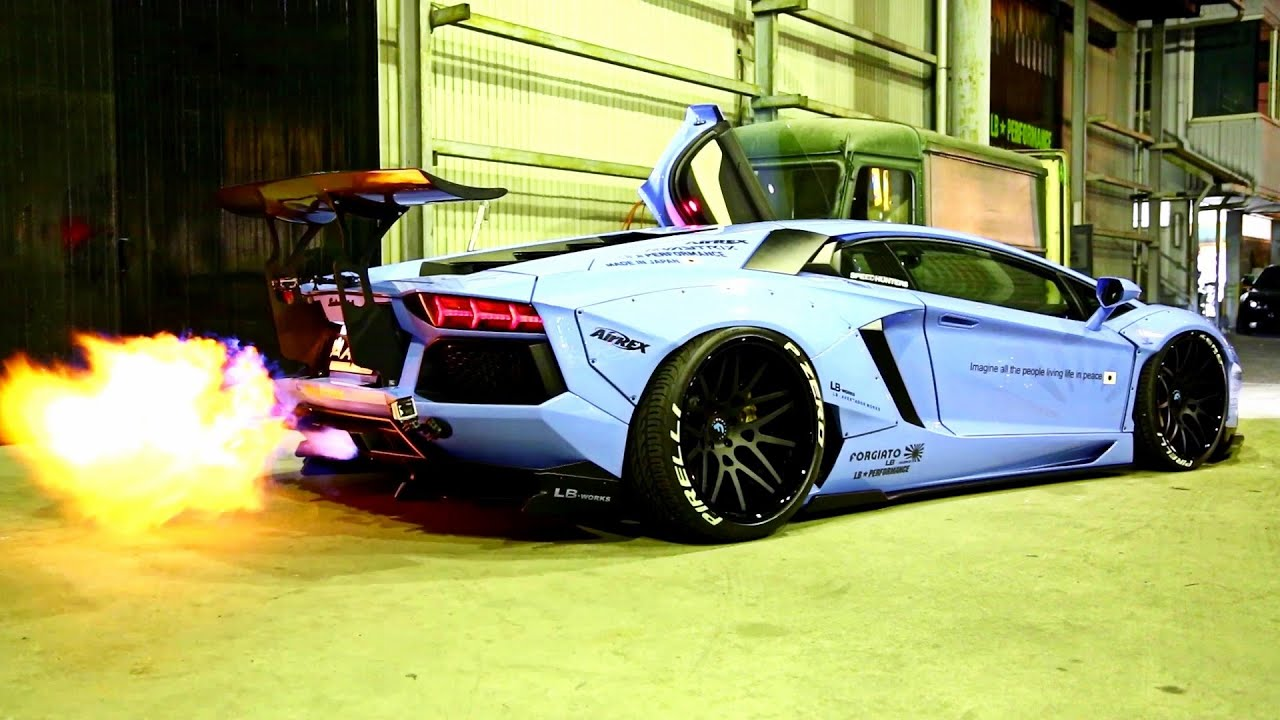 Lamborghini Aventador Lp720 4 Crazy Fireworks With