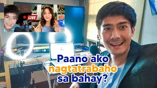 WELCOME TO MY MINI STUDIO AT HOME! (How I work from home) | Robi Domingo