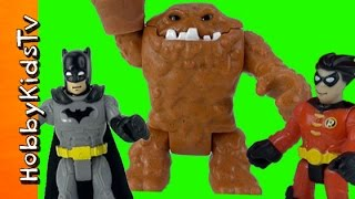 Batman + Robin vs Clayface Battle! Clowns Fight, Imaginext Fisher Price by HobbyKidsTV