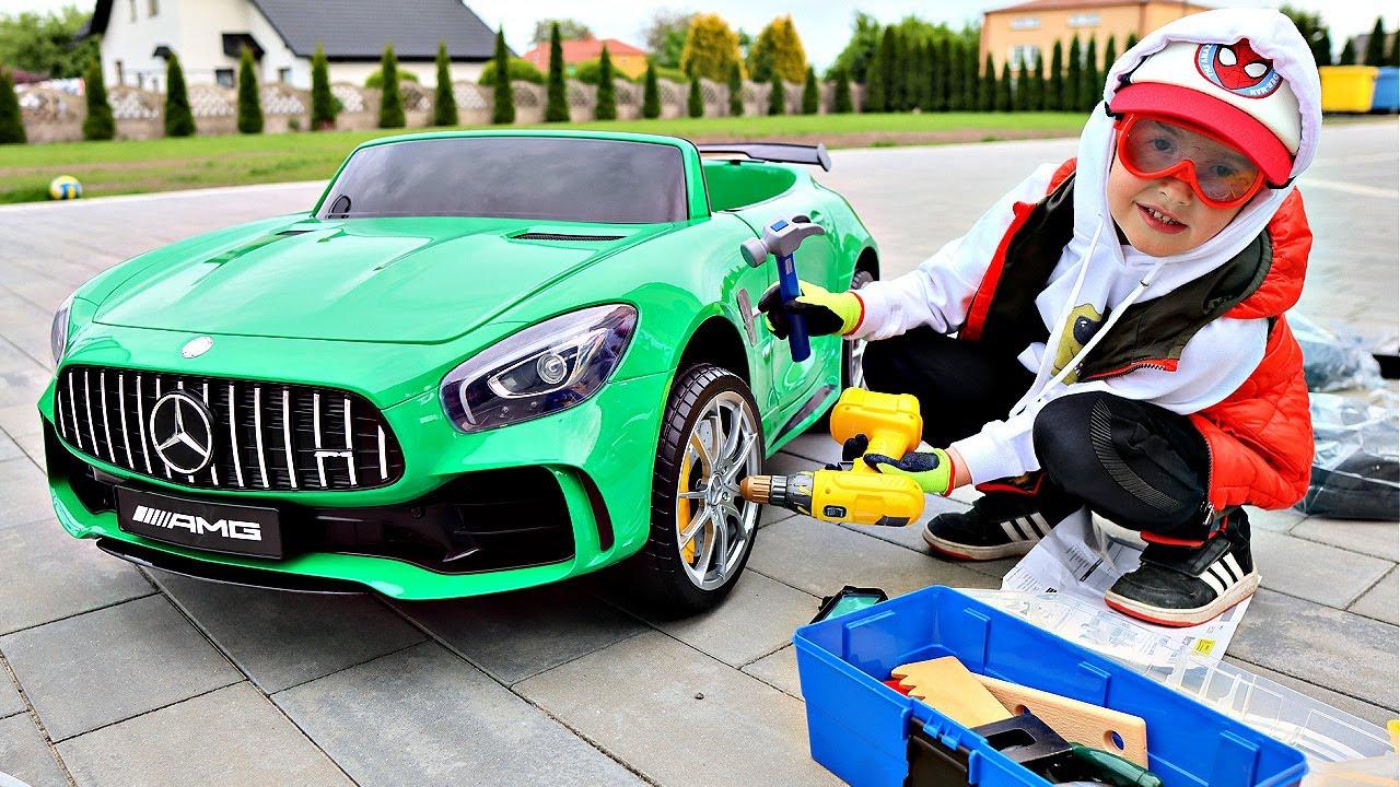 MERCEDES AMG GT Marcel mechanik UNBOXING i TEST
