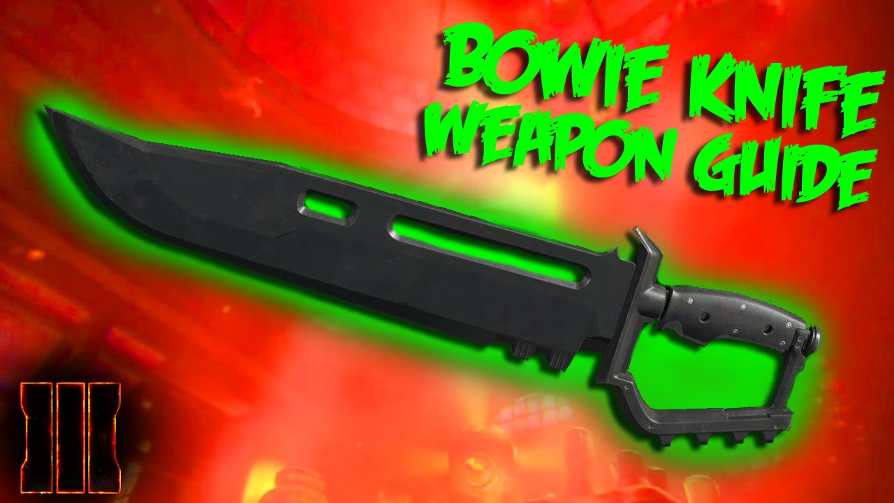 Black Ops 3 Zombies Weapon Guide | Bowie Knife Melee Weapon - YouTube