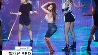 Hyuna 현아[4K 직캠]빨개요 RED@161220 Rock Music