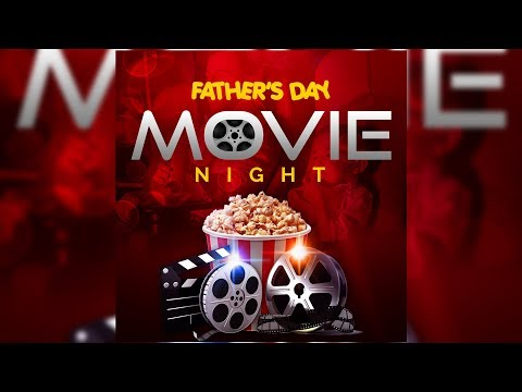 Emotional FATHER'S DAY MOVIE NIGHT FLYER DESIGN | Photoshop Tutorial thumbnail