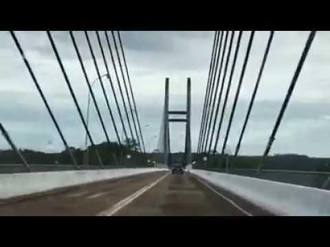 VÍDEO mostra travessia da Guiana para Oiapoque na ponte binacional