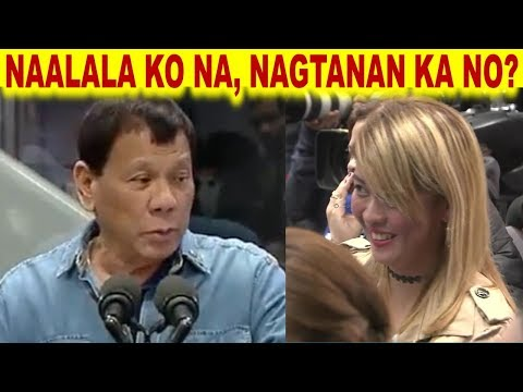 PRESIDENT RODRIGO DUTERTE JOKES WITH A BEAUTIFUL OFW REPATRIATED FROM KUWAIT