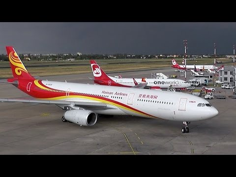 Berlin Tegel Airport Heavy Traffic Boeing 767 - Airbus A330 - Airbus A340