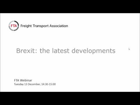Brexit - what are the implications for logistics - December update