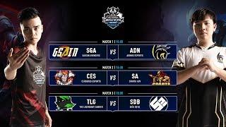 SGA vs ADN | CES vs SA | TLG vs SDB | Vòng 1 ĐTDV SerieB mùa Đông 2019