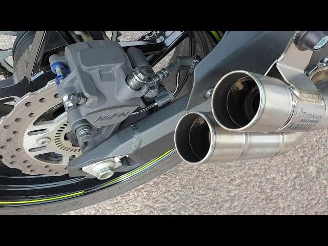 MIVV Double Gun  - Kawasaki Z900 - with DB-Killer MY18 - after 2.000 kilometer