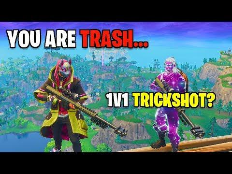 I trickshot battled THIS FAZE TRICKSHOTTTER! (Fortnite Insane 1v1)