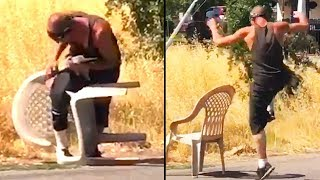 Ozzy Man Reviews: Man vs Plastic Chair