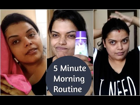 5 MINUTE EVERYDAY SUMMER  MORNING SKIN CARE ROUTINE | AFFORDABLE INDIAN UPDATED ROUTINE 2018