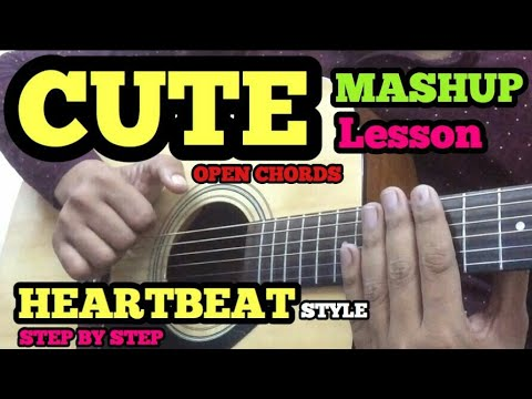 Cute Mashup Guitar Chords Lesson | HEARTBEAT STYLE | Easy Bollywood/Hindi Songs Mashup For Beginners
