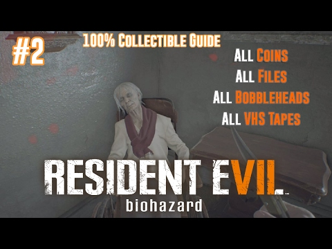 RESIDENT EVIL 7 COLLECTIBLES GUIDE | All Antique Coins, Files, Bobbleheads & VHS Tapes | Part 2 |