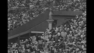 LONDON 1948 Lighting of the Olympic Cauldron (Amateur Footage)