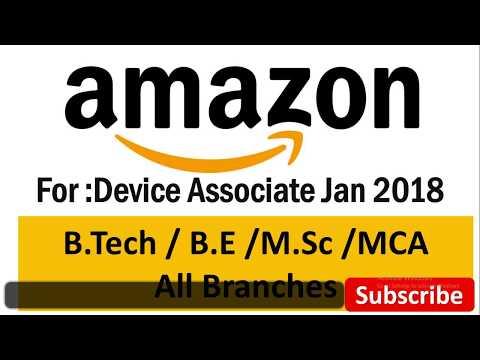 Amazon  Jan 2018 Recruitment Device Associate hst jobs