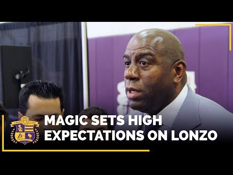 Magic Johnson Sets High Expectations On Lonzo Ball