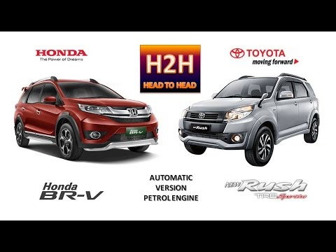 H2H #46 Honda BR-V vs New Toyota Rush - YouTube
