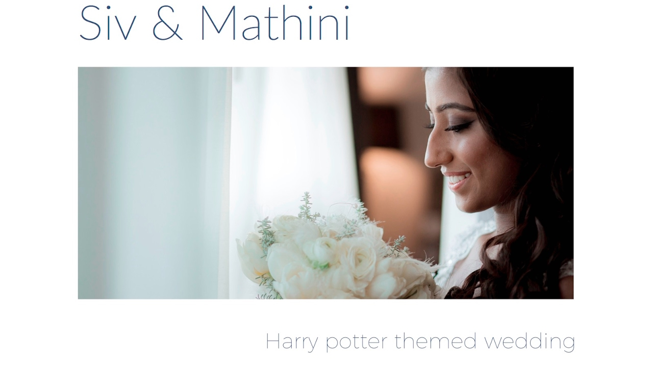 Harry Potter themed wedding of Siv & Mathini - YouTube