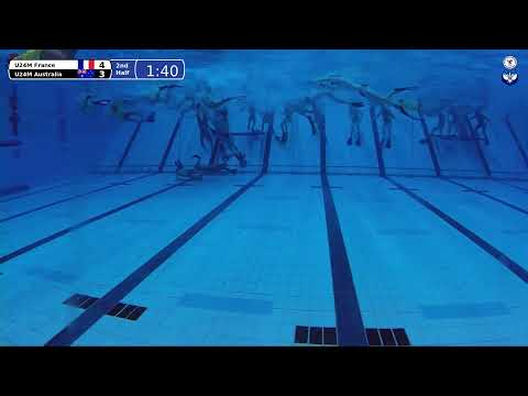 Game 192 (FRA vs AUS U24M) - 5th CMAS Underwater Hockey Age Group Worlds - Sheffield, UK (Court B)