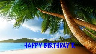 K  Beaches Playas - Happy Birthday
