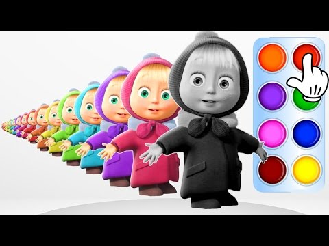 Thumbnail: Learn Colors for Kids with Masha and the Bear Learning Flashy Color Animation for Baby Toddlers Kid