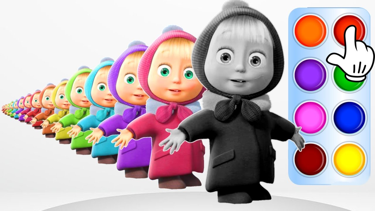 Learn Colors for Kids with Masha and the Bear Learning Flashy ...