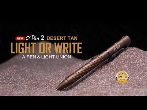 Senter OLIGHT OPEN 2 Desert Tan Penlight Rechargeable Limited Edition