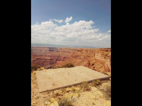 Mysterious Concrete Platform & Plane Crash by Kincaid Cave in Grand Canyon