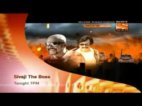 Sivaji: The Boss Tonight 7.00.pm Only On Sony Wah