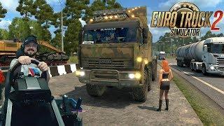 Дорога на Иркутск в суровой России - Euro Truck Simulator 2 + руль Fanatec CSLElite