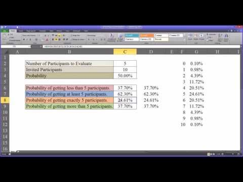Binomial Distribution Function in Excel