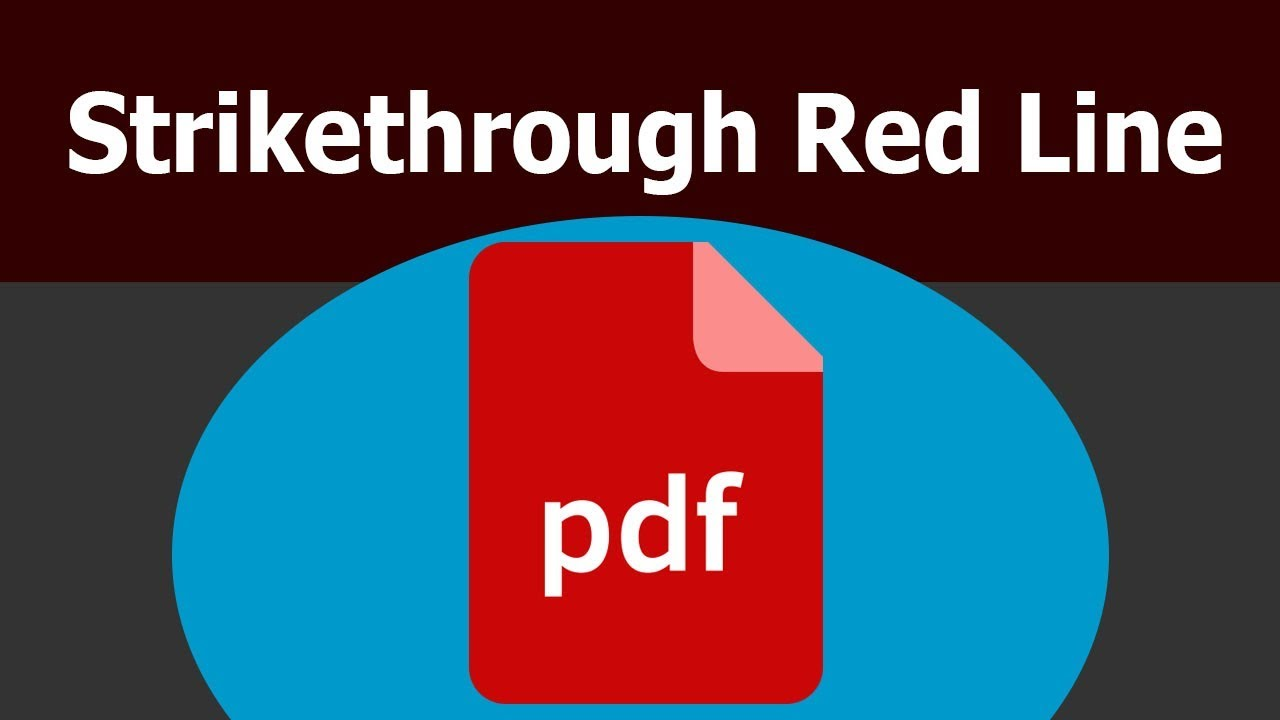 How To Add Strikethrough Red Line In Pdf Text By Using Adobe Acrobat