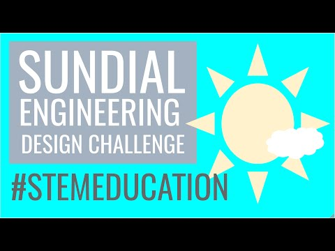 Sundial Engineering Design Challenge (NGSS STEM Education)