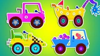 Экскаватор мультик. Машинка Вилли. машинка мультик про трактор. Грузовик для детей. Про динозавров