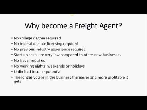 Why become a Freight Agent & #1 Key to Success for Freight Agents