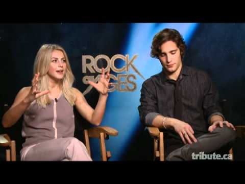 Julianne Hough & Diego Boneta - Rock of Ages Interview with Tribute