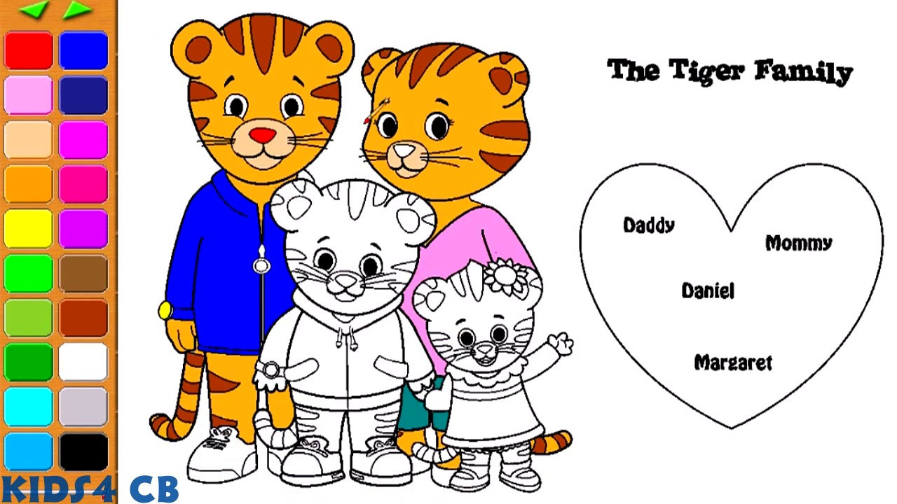daniel tigers neighborhood coloring pages daniel tigers family - Daniel Tiger Coloring Pages