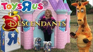Toys R Us Prank Kids Disney Princess Castle Descendants Mal Teleport Party