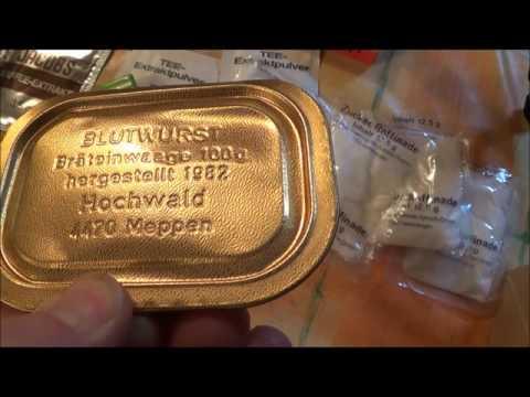 Zeitkapsel ein altes Bundeswehr EPA öffnen