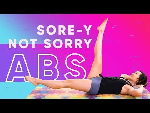 Sore-y Not Sorry Ab Workout Challenge | Sorry Not Sorry by Demi Lovato