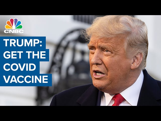 Fmr. President Donald Trump says he would recommend supporters to get the Covid vaccine