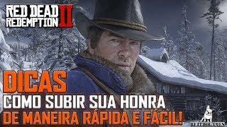 Red Dead Redemption 2 -  DICAS - COMO ATINGIR O NÍVEL MÁXIMO DE HONRA DE MANEIRA RÁPIDA!