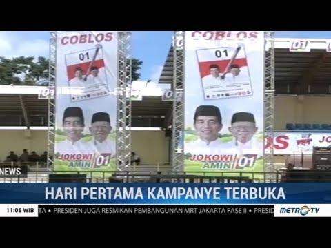 Jokowi Awali Kampanye Terbuka Di Banten