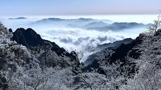 Cold fronts bring frosty scenes to mountains in China