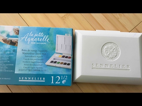 Sennelier La Petit Aquarelle Watercolor Set Review for Adult Coloring and Crafting