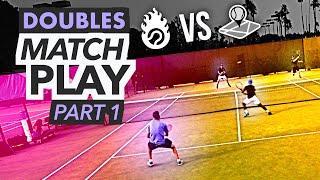 NTRP 5.0 Doubles Tennis Match Play - PART 1 (Ian & Kevin vs. Scott & Nate)