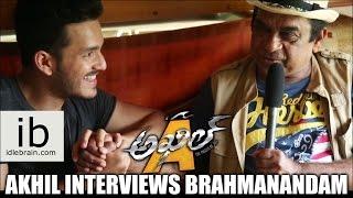 akhil interviews brahmanandam idlebraincom