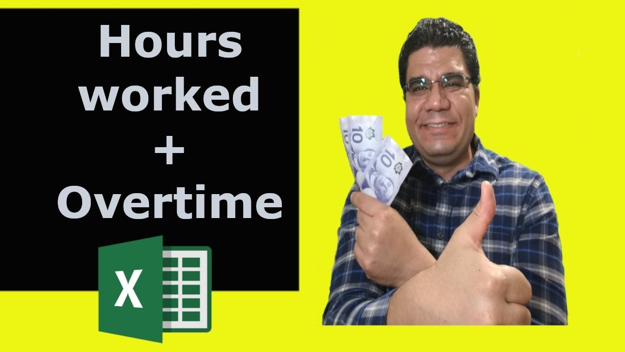 excel 2016 calculate worked hours  + overtime hours | Day and Night Shift!